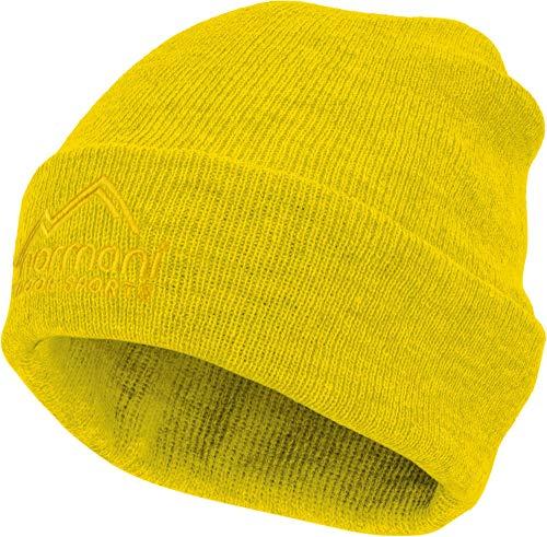 normani Strickmütze mit 3M Thinsulate (40g) und Fleecefutter bis -30°C – für Damen und Herren – Beanie Farbe Gelb | 09858600720030
