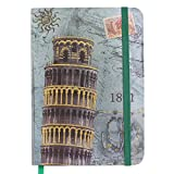 "Tootpado Leaning Tower of Pisa Journal 100 pages - Diary, Notebook (5""x7"" Inches)"