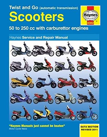 Twist and Go Scooters: 50 to 250 cc with Carburetor Engines