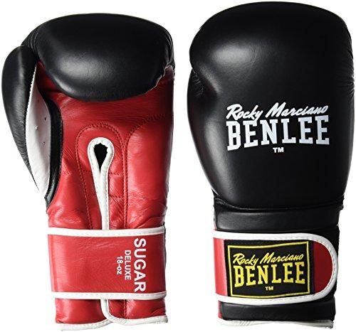 Benlee Rocky Marciano Guantes de boxeo Boxing Gloves Sugar Deluxe, negro/rojo