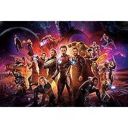 Puzzle House- Avengers Poster, Rompecabezas de Madera, Stills de la película Infinity War, Basswood Cut & Fit, 300/1000 Piezas en Caja Fotografía Juguetes Juego Arte Pintura para Adultos y niñ
