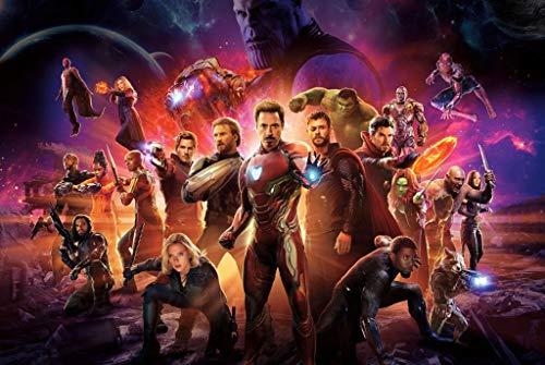 Avengers Poster, Holzpuzzle, Unendliche Kriegsfilm-Stills, Basswood Perfect Cut & Fit, 300/1000 Stück Boxed Fotografie Spielzeug Spiel Kunst Malerei für Erwachsene & Kinder Sommus SY