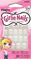 Little Fing'rs Self Stick Girlie Nails Glitter French