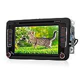 KAKIT 7 Zoll Berührungsbildschirm 2 Din Autoradio Car DVD Player mit GPS Navigation, Bluetooth Freisprecheinrichtung, bis zu 32GB USB/SD Karte, Win CE 6,0 mit 800 MHz CPU, für Jetta Golf Passat Tiguan