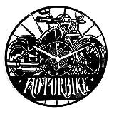 Instant Karma Clocks Orologio in Vinile da Parete Motociclismo Motorbike Moto Uomo retrò Strada Rider