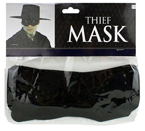 HAAC Augenmaske Maske Bandit Farbe schwarz für Fasching Karneval Party