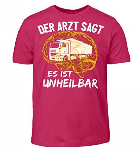 Shirtee Hochwertiges Kinder T-Shirt - Lastwagen Shirt · Geschenkidee für Berufskraftfahrer · Aufdruck LKW Motiv/Spruch · Verschiedene Farben Sorbet