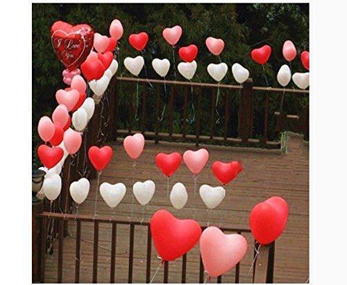 VPlus 50 Stück Liebe Latex Luftballons Herzförmige Verdickung Layout Perle Ballons Bday Party Dekoration Vorschlagen herzförmigen Ballon Hochzeit liefert Party Geburtstag Ballon sortierte Farbe (Dekorationen Bday 50)