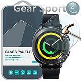 [ 2 Pack ] Samsung Gear Sport Tempered Protecteur D'écran, PULEN Film Protection en Verre Trempé écran Protecteur [Extreme Résistant aux rayures] [Anti Rayures] [Sans Bulles D'air] 0,26mm mince Digitale HD