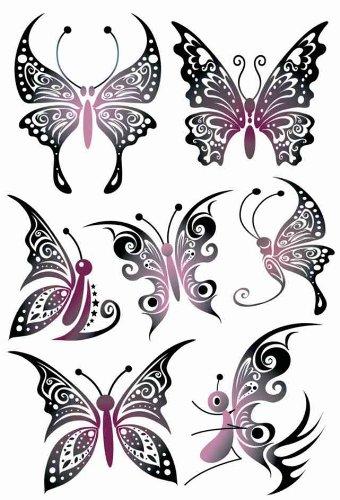 Preisvergleich Produktbild Sticker Herma Tattoos Black Art, Schmetterlinge, PG/1Bl
