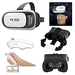 ALDIVO Virtual Reality Headset 3D Glasses Version 2.0 Vr Box with Bluetooth Remote Control LeTv 1s / Vr Box for 3.56.0 Mobiles