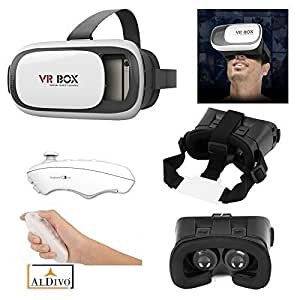 "ALDIVO® 3D Vr Box For Samsung Galaxy J2 With Bluetooth Remote Control, Virtual Reality Headset 3D Glasses Version 2.0 Vr Box For Samsung Galaxy J2 / Vr Box For 3.5~6.0"" Mobiles"