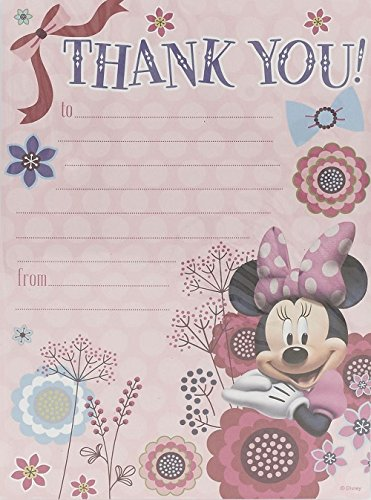 Image of Minnie Mouse Pack Of 20 Thank You Sheets With Envelopes