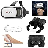 "ALDIVO® 3D Vr Box For Nokia XL With Bluetooth Remote Control, Virtual Reality Headset 3D Glasses Version 2.0 Vr Box For Nokia XL / Vr Box For 3.5~6.0"" Mobiles"