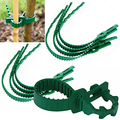 crazygadgetr-8pcs-8-pieces-strong-heavy-duty-soft-rubber-interlock-gardening-shrub-ties-for-securing