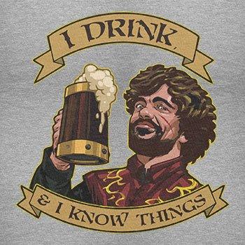 TEXLAB - I drink, and I know things - Herren T-Shirt Grau Meliert