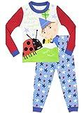 Ben & Holly Pijama para Niños - El Pequeño Reino Ajuste Ceñido - 3-4 Años
