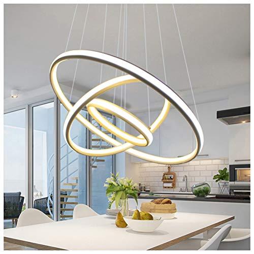 NIUZIMU Restaurant Pendelleuchte Moderne Einfache Kronleuchter Runden Tisch Bar Deckenbeleuchtung Schlafzimmer Pick Up Hall Lampe - Weiß -7428 - Runde-tisch-kronleuchter