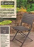 Aluminium- Klappstuhl Stuhl Campingstuhl (grau)
