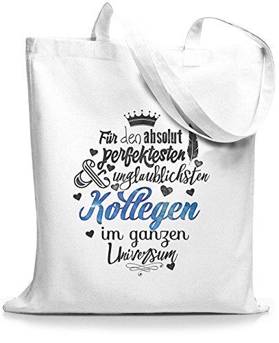StyloBags Jutebeutel / Tasche Für den absolut perfektesten Kollegen Weiß
