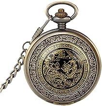 Pocket Watch, Sannysis Reloj de Bolsillo Mecánico, Analógico
