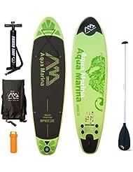 Aqua Marina Breeze SUP Modelo 2016–Juego para practicar paddlesurf (incluye tabla inflable y remo)