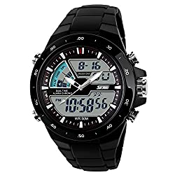 Skmei Analogue-Digital Grey Dial Men's Watch - 1016