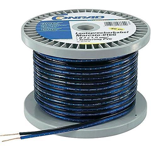 Kabel Lautsprecher Konrad 93030C4832x 0,8mm² Blau, Schwarz 30m