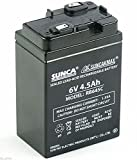 #8: SUNCA 6v 4.5ah Sealed Lead-Acid Rechargeable Battery for UPS, Toys, Solar etc