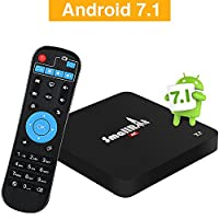 Android 7.1 TV Box, SMALLRT X2 4K HD Smart TV Box Support Wifi Quad Core Media Player for Home Entertainment