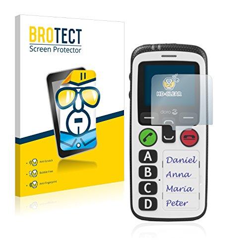 BROTECT Schutzfolie für Doro Secure 580 [2er Pack] - klarer Displayschutz