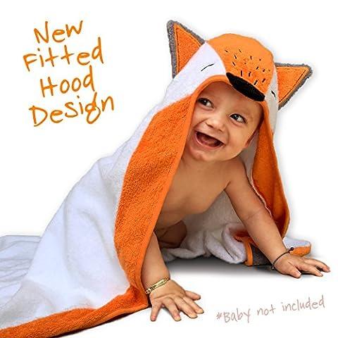 Serviette de bébé à capuche par Cuddle Buddy–Fox Edition