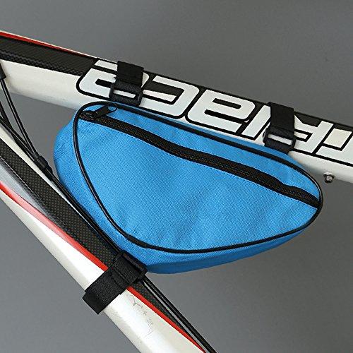 LWJgsa Fahrrad Dreieck Tasche Traverse Röhre Wickeln Berg Tasche Blue