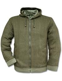 Mil-tec veste en maille avec capuche-vert olive