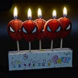 Partysanthe Spider Man Candle/ Birthday Theme/Party Suppiles