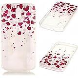 KSHOP Funda Case para Huawei Y625 Case Cover Carcasa Suave Flexible TPU Silicona gel Forro Delgada Resistente a los Arañazos - corazon rojo