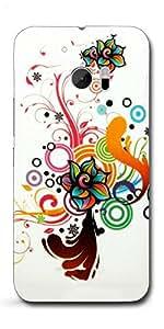 SEI HEI KI Designer Back Cover For HTC M10 - Multicolor