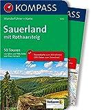 KOMPASS Wanderführer Sauerland mit Rothaarsteig: Wanderführer mit Extra-Tourenkarte 1:100.000, 50 Touren, GPX-Daten zum Download: Wandelgids met overzichtskaart