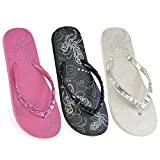 LADIES GIRLS FLIP FLOPS WITH JEWELLED STRAPS