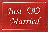 Just Married Fußmatte für Hochzeiten als Hochzeitsgeschenk