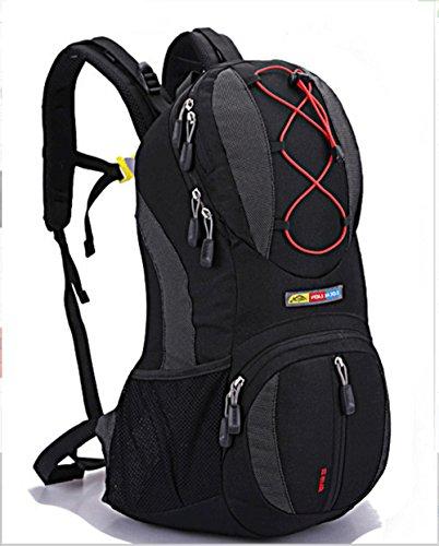 Ruanlei @ tela casual zaini viaggio/ laptop backpack / multifunzione zaino business/ backpack resistente all'acquaoutdoor sport viaggi double borsa a tracolla, nero