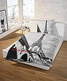 SCHLAFWOHL® Reinforce Fotodruck Bettwäsche; Paris