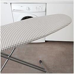 Fast World Shopping - Housse de rechange pour planche à repasser en tissu avec rembourrage - Blanc/gris