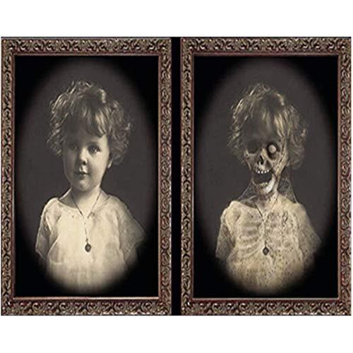 koration unheimliche dekorative Parteiparodie-Geist-Requisiten Sichtveränderung Horror-Fotorahmen lebensechter Seelen-Fotorahmen des Geistes 3D Retro-Stil ()