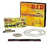 Kettensatz / Kettenkit Yamaha WR 125 R, 2009-2013, Typ DE07, DID X-Ring (VX gold) extra verstärkt