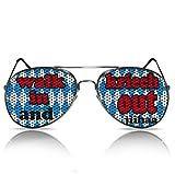 Partybrillen Bierfest Volksfest Bierzelt Festzelt Zubehör Accessoire Party Sonnenbrille mit Motiv Partyzubehör Spassbrille Funbrille mygafas Faschingbrille Fasnachts Sonnen Brille Motiv - Walk in and kriech out (Pilot)