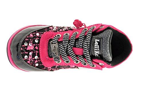 Lelli Kelly , Mädchen Sneaker NERO E FUXIA Negro
