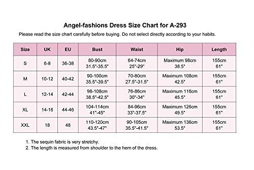 Angel fashions Damen V-Ausschnitt Paillette Perlstickerei Meerjungfrau Mantel lang Abendkleid Silber