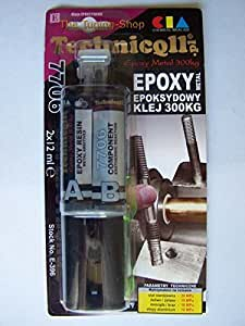 EPOXY SPECIAL TECHNICAL ADHESIVE GLUE FOR METAL GLASS WOOD STONE very strong NEW by Technicqll