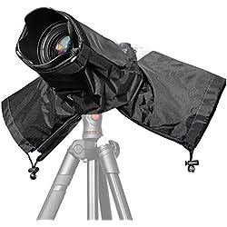 JZK® Caméra Couverture Anti-Pluie Protecteur Étanche Housse pour appareils Photo Reflex numériques DSLR + Lens Total jusqu'à 32cm de Longueur, Canon, Nikon, Sony, Olympus, Panasonic, etc.